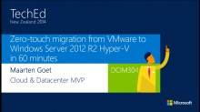 Zero-touch migration from VMware to Windows Server 2012 R2 Hyper-V in 60 minutes
