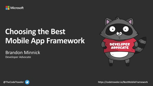 Choosing the best mobile app framework