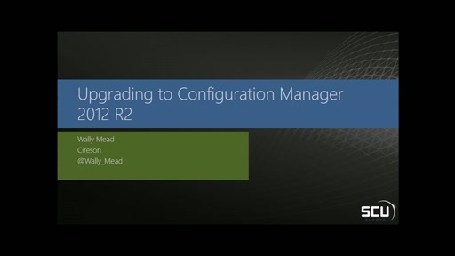 Upgrading to Configuration Manager 2012 R2