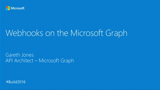 WebHooks in the Microsoft Graph