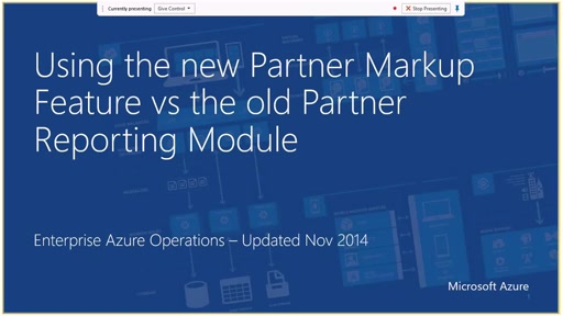 Using the new Partner Markup Feature vs the Old Partner Reporting Module
