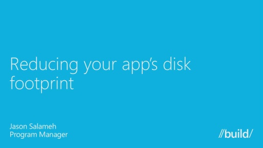 Optimizing Your App's Disk Footprint