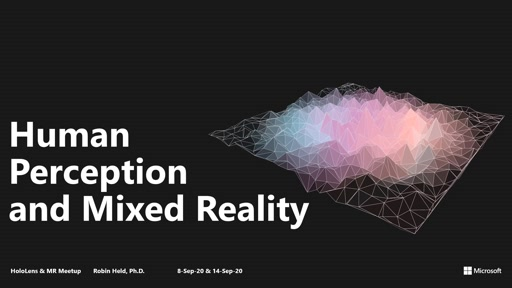 Human Perception and Mixed Reality