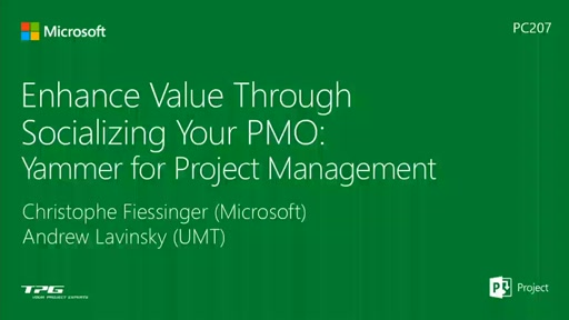 Enhance Value Through Socializing Your PMO: Yammer for Project Management