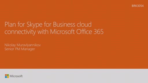 Plan for Skype for Business cloud connectivity with Microsoft Office 365