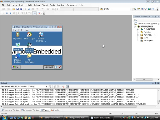 Using CEDebugX with Windows Embedded CE 6.0 SP1