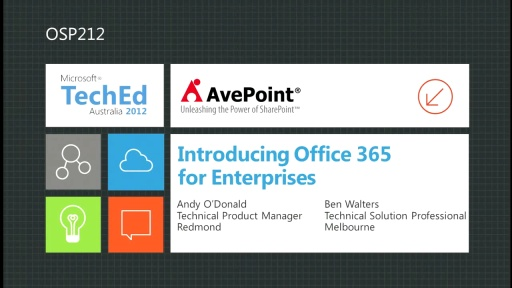 Introducing Office 365 for Enterprises
