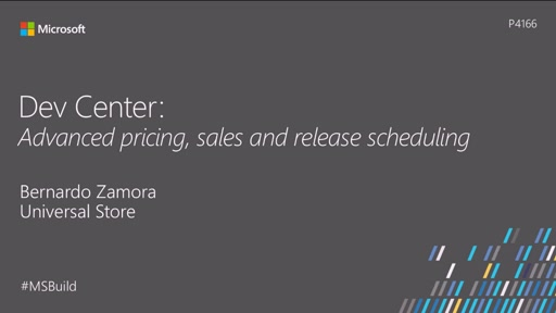 Dev Center: Advanced pricing, sales and release scheduling