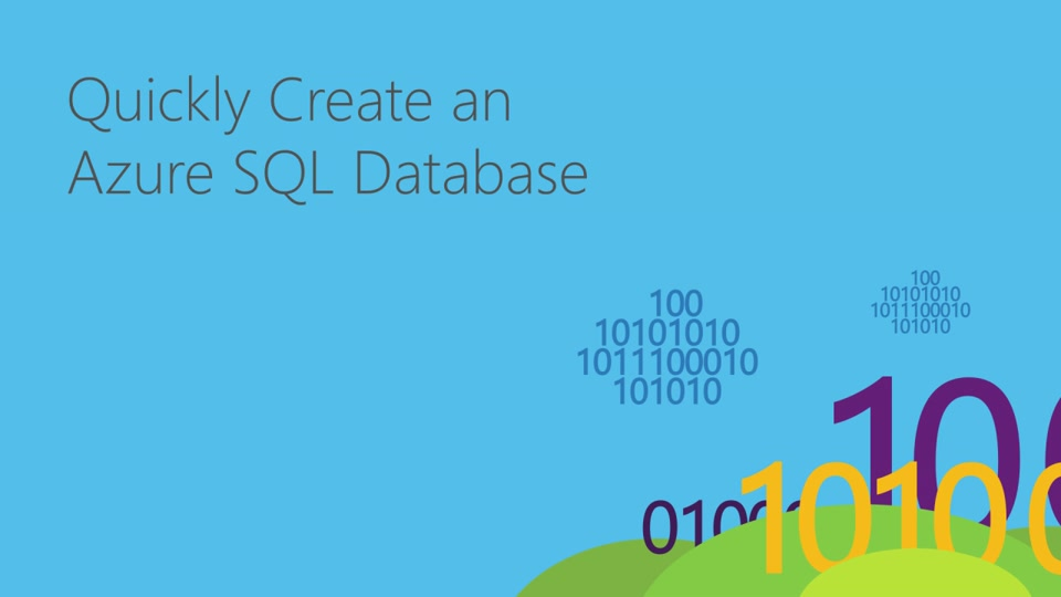 Azure SQL Database - create DBs in seconds