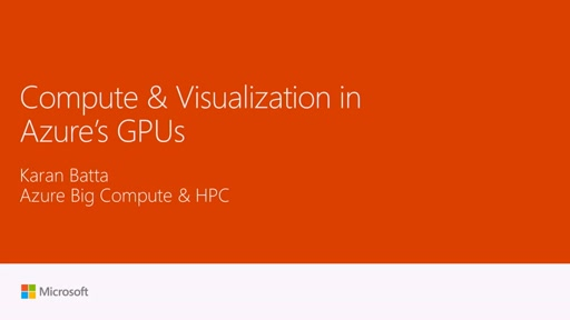 Compute and Visualization in Azure's GPUs!