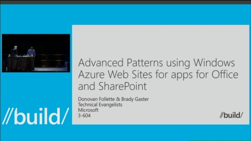 Advanced Patterns Using Windows Azure Web Sites for Apps for Office and SharePoint