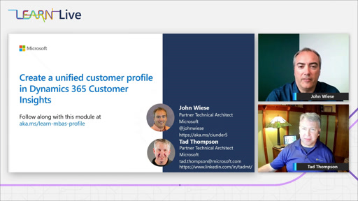 Creating a unified customer profile in Dynamics 365 Customer Insights - MBAS
