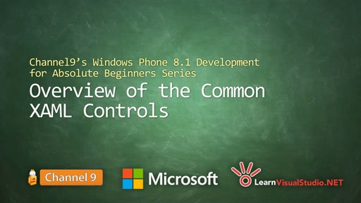 Part 5 - Overview of the Common XAML Controls