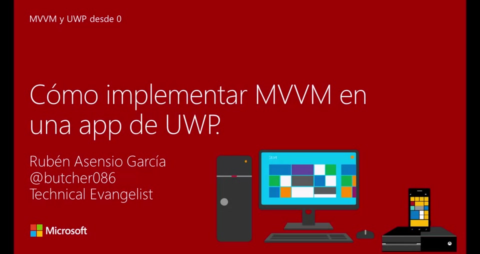 Model View - View Model y Universal Windows Platform desde 0