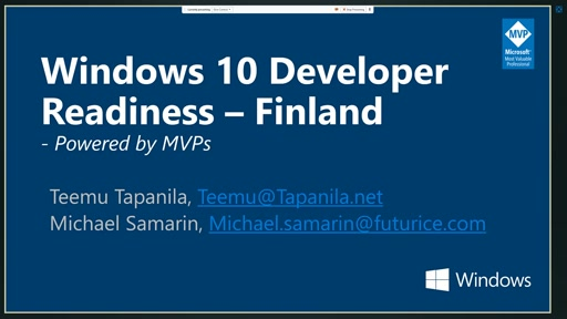 Windows 10 Developer Readiness [Finland]