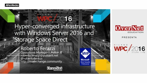 Hyper-converged infrastructure with Windows Server 2016 and Storage Space Direct