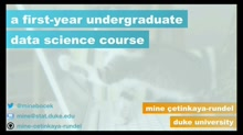 A first-year undergraduate data science course