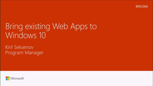 Bring existing web apps to Windows 10 with Hosted Web Apps