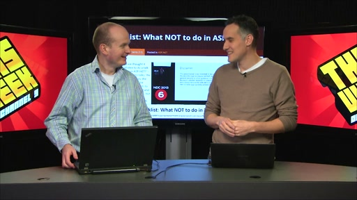 TWC9: What not to do with ASP.NET, explore .NET 4.5.1, more Async tips, Conan  and more