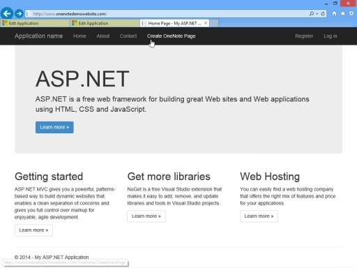 Getting Started with the OneNote API: ASP.NET Edition
