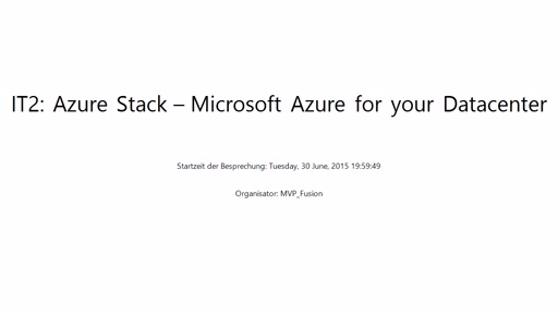 IT Pro: Azure Stack – Microsoft Azure for your Datacenter