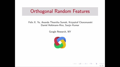 Orthogonal Random Features