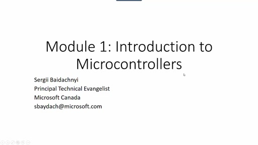Module 1: Introduction to Microcontrollers