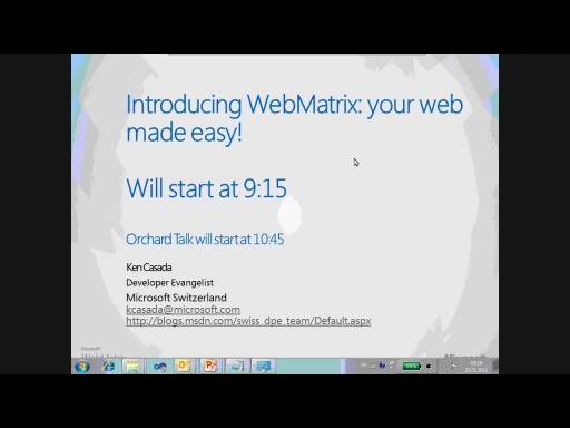 Building Web Sites using WebMatrix