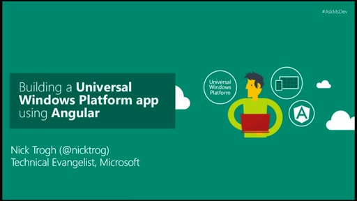 Building a Universal Windows Platform app using Angular