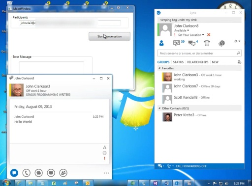 Lync 2013: Start an IM Conversation