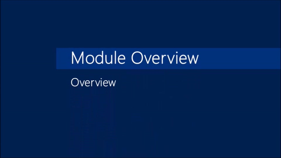 Module 02: Overview of Microsoft Dynamics AX 2012 R3 CU8