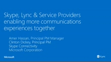 Working with a Lync Service Provider