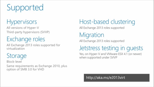 Implementing Exchange Server 2013: (03) Exchange Server 2013 Virtualization Best Practices
