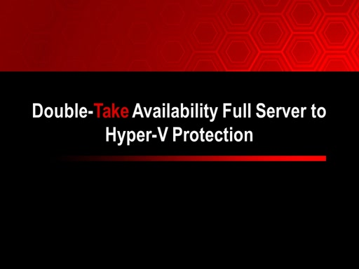Full Server to Hyper-V Protection