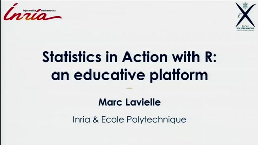 Statistics in Action with R: an educative platform