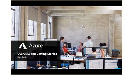 Azure Overview and Getting Started