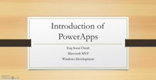 Introduction of PowerApps