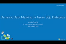 Dynamic Data Masking in SQL Azure