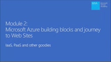 (Module 2) Microsoft Azure Building Blocks & Journey to Web Sites – IaaS, PaaS and Other Goodies