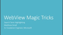 WebView Magic Tricks Series Part 1: Search Term Highlighting