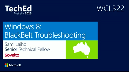 Windows 8 - Black Belt Troubleshooting
