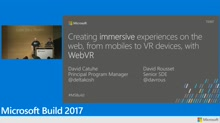 Creating immersive experiences on the web, from mobiles to VR devices, with WebVR