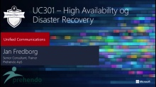 Lync Server 2013 – High Availability og Disaster Recovery