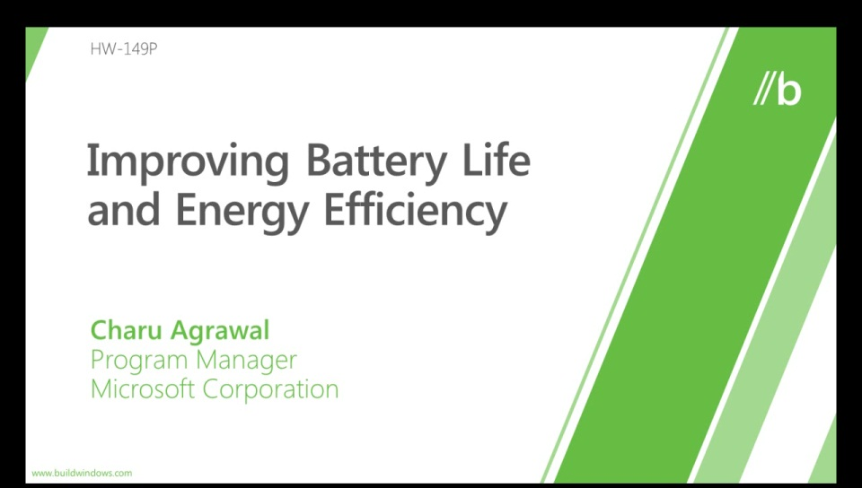 Improving battery life and energy efficiency