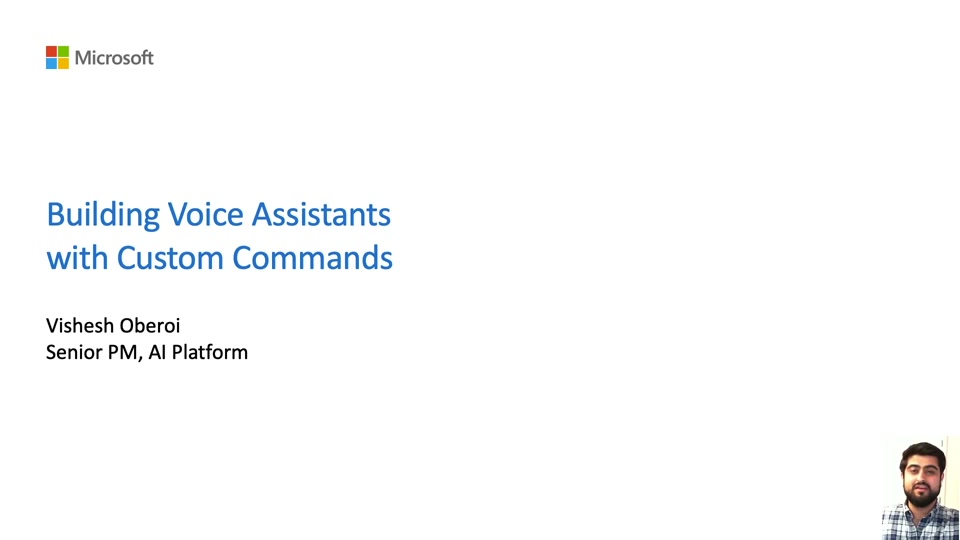 Building Voice Assistants with Custom Commands