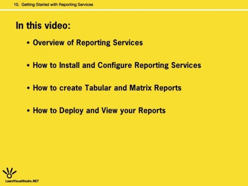 Getting Started with Reporting Services