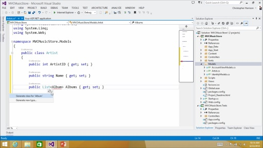 Introduction to ASP.NET MVC: (02) Creating and Configuring Models