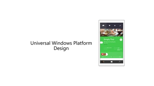 Designing Universal Windows Platform apps