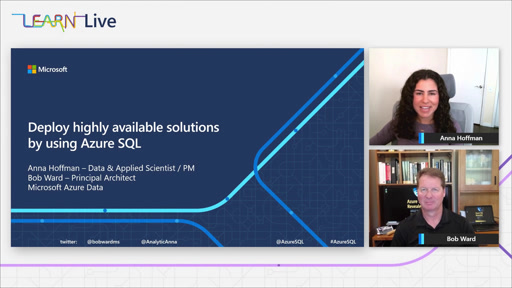 Azure SQL Fundamentals - Episode 5 - Deploy highly available solutions by using Azure SQL