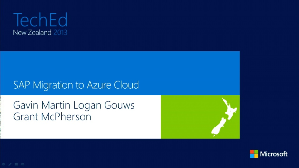 Sap Migration To Azure Cloud Teched New Zealand 2013
